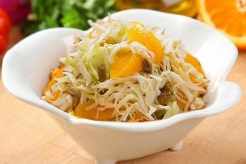 салат с капусты с апельсинами